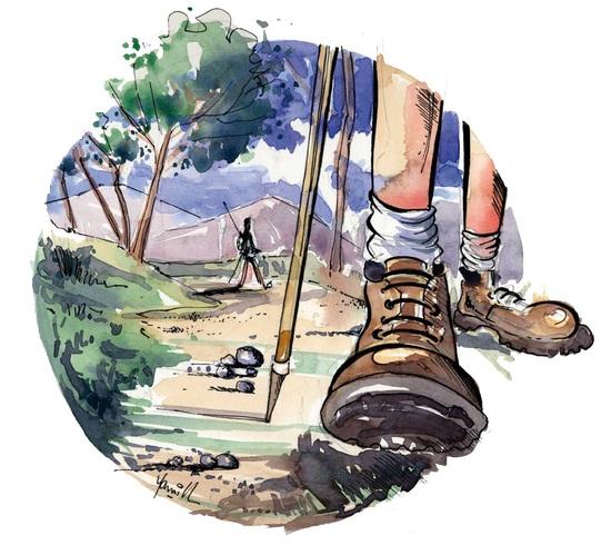 Image pied chaussure rando