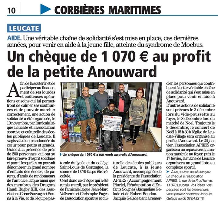Remise cheque anouward